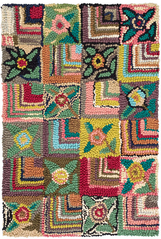 Gypsy Rose Cotton Hooked Rug