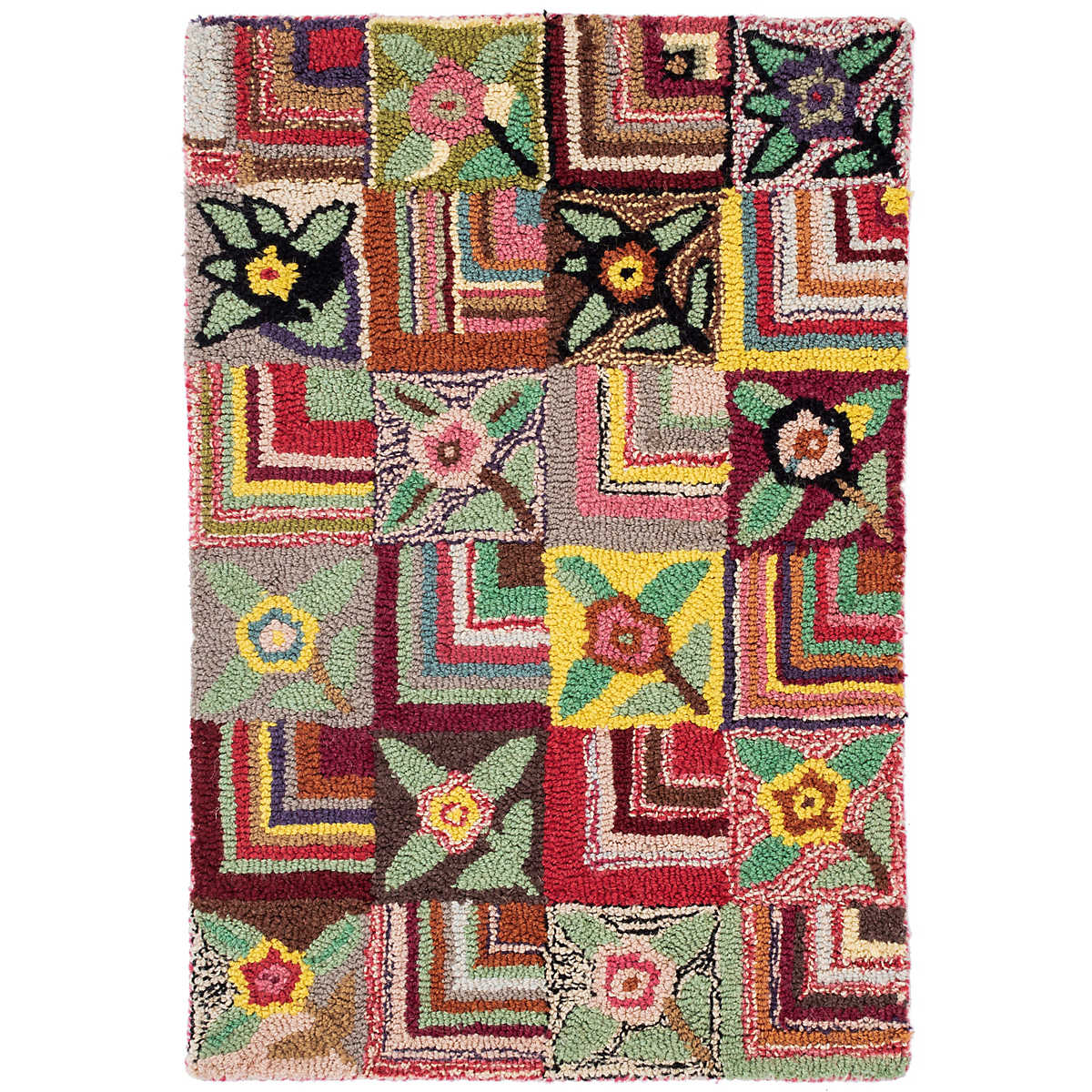Gypsy rose wool hooked rug dash albert for Dash and albert blankets