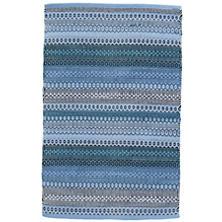 Gypsy Stripe Denim/Navy Woven Cotton Rug