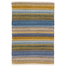 Gypsy Stripe Denim/Yellow Woven Cotton Rug