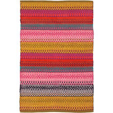 Gypsy Stripe Multi Woven Cotton Rug