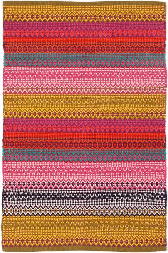 Gypsy Stripe Woven Cotton Rug | Dash & Albert