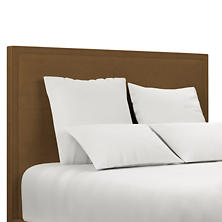 Velvesuede Camel Colebrook Whitewash Headboard