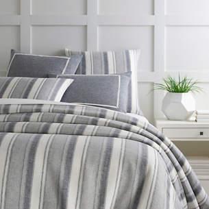 1d3280d7aa6 Hampton Ticking Linen Indigo Duvet Cover