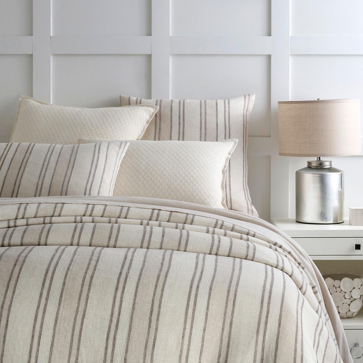 Hampton Ticking Linen Natural Duvet Cover