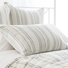 Hampton Ticking Linen Natural Sham