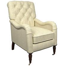 Adams Ticking Grey Hancock Chair