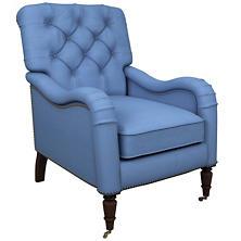 Estate Linen French Blue Hancock Chair