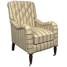 Glendale Stripe Navy/Brown Hancock Chair