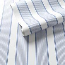 Hannah Stripe Blue Wallpaper