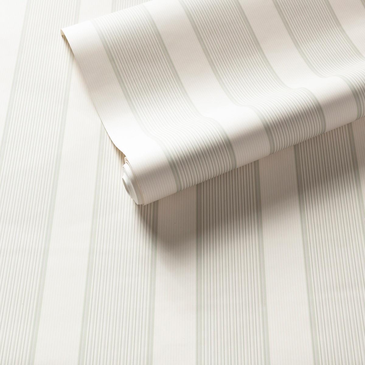 Hannah Stripe Celadon Wallpaper