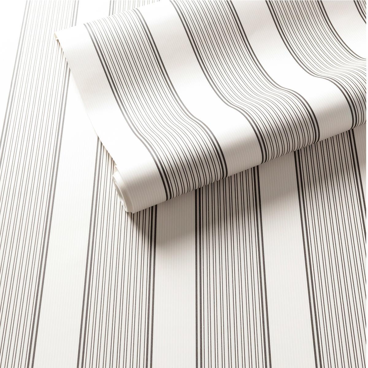 Hannah Stripe Charcoal Wallpaper