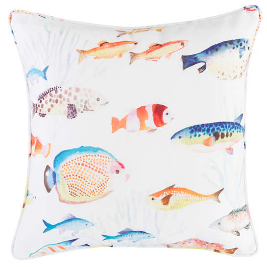Happy Fish Indoor/Outdoor Decorative Pillow