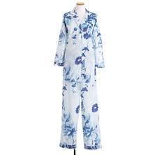 Happy Floral Voile Blue Pajama