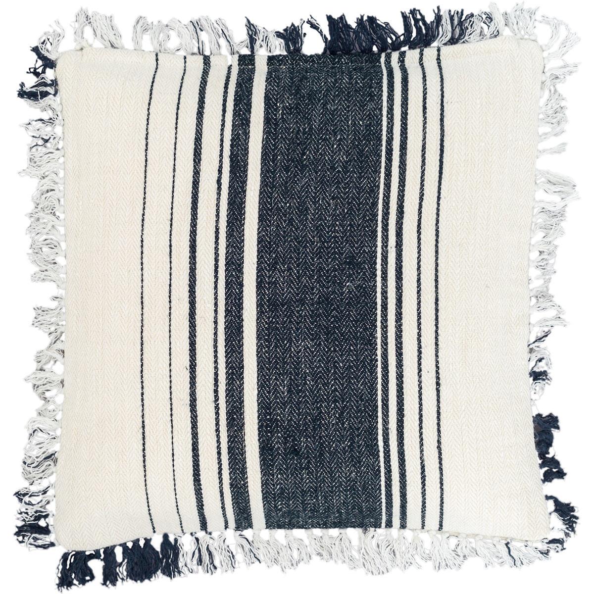 Harbor Stripe Indigo Decorative Pillow