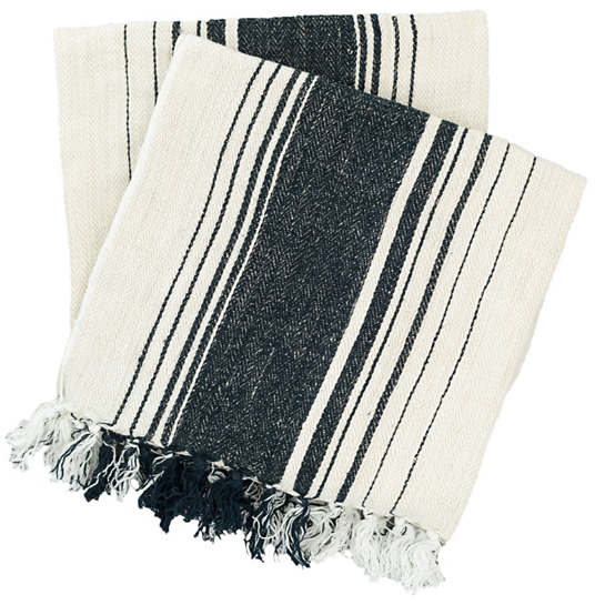 Harbor Stripe Indigo Throw