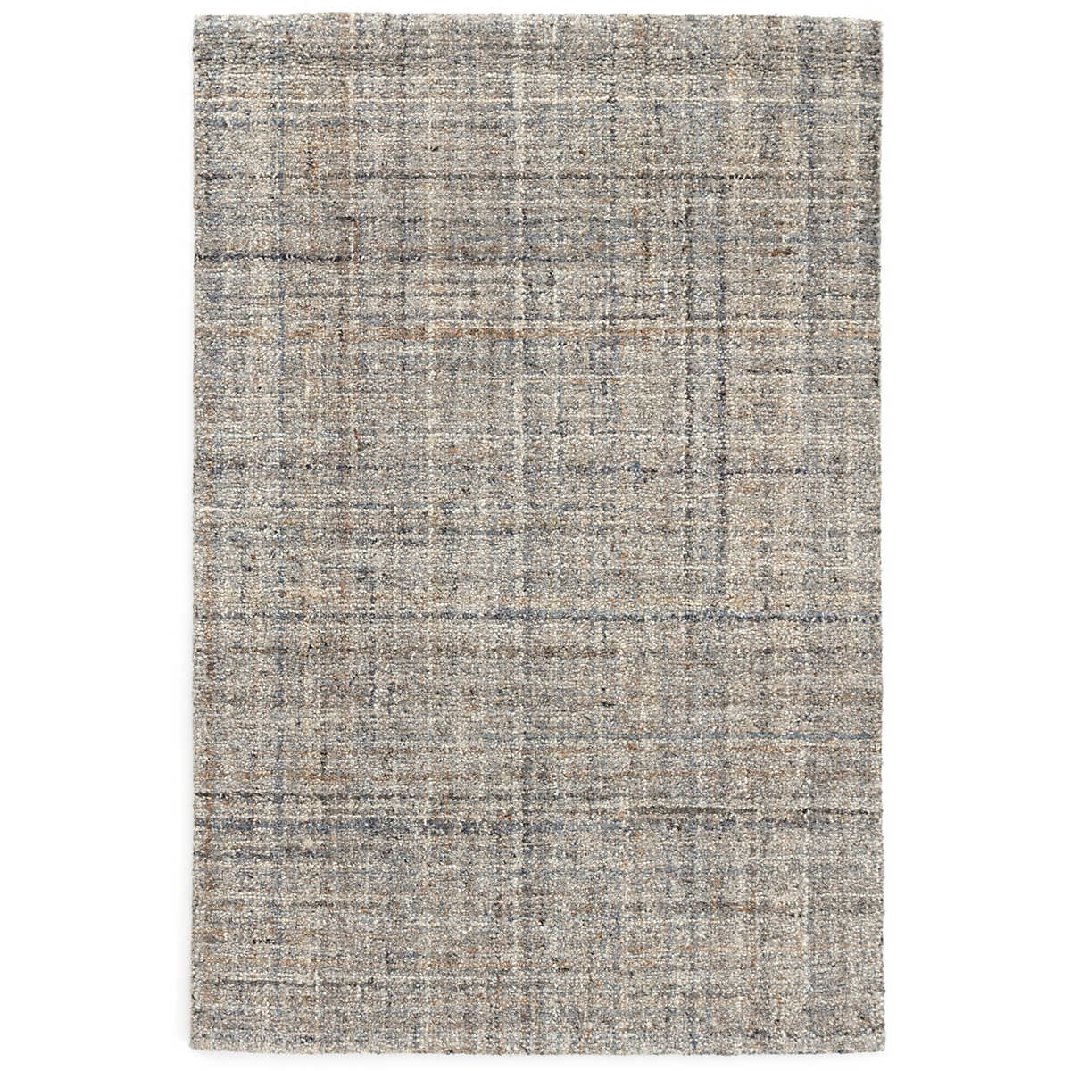 Harris Blue Micro Hooked Wool Rug Dash Amp Albert
