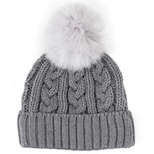 Grey/Silver Fur Wool Blend Hat