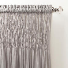 Heirloom Voile Grey Curtain Panel