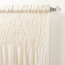 Heirloom Voile Ivory Curtain Panel