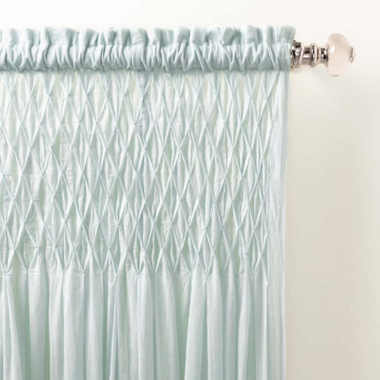 Heirloom Voile Robin's Egg Blue Curtain Panel