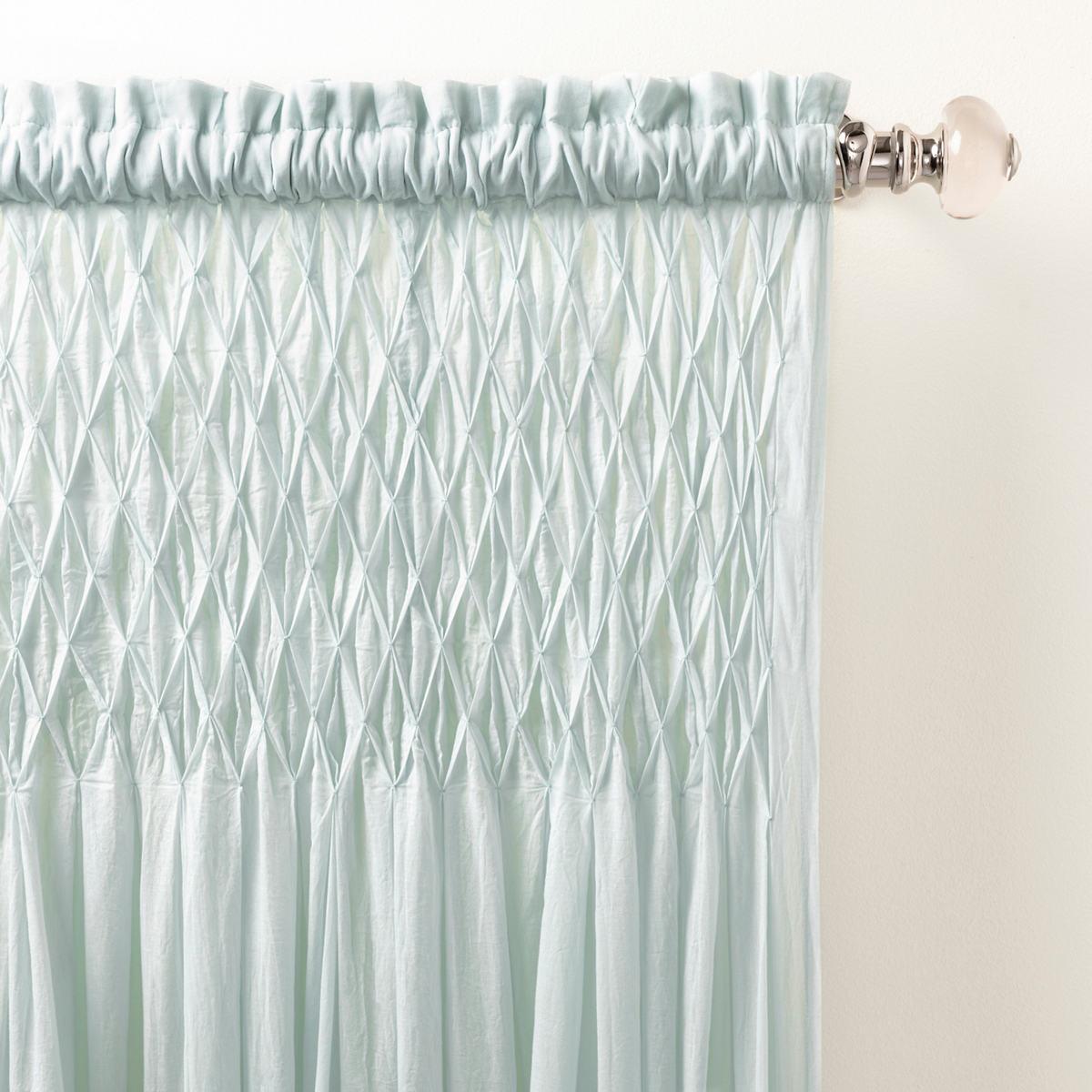 Heirloom Voile Robin's Egg Blue Curtain Panel
