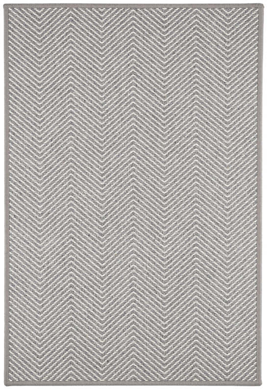 Henly Grey/Ivory Woven Wool Custom Rug With Pad