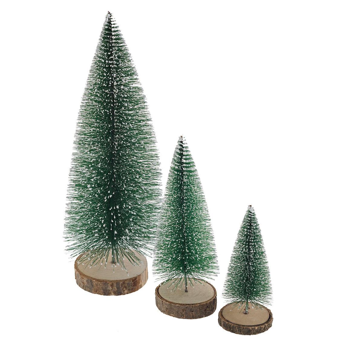 Heritage Bottle Brush Trees/Set Of 3