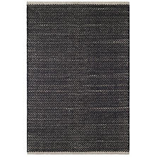 Herringbone Black Woven Cotton Rug