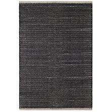 Herringbone Black Woven Cotton Rug
