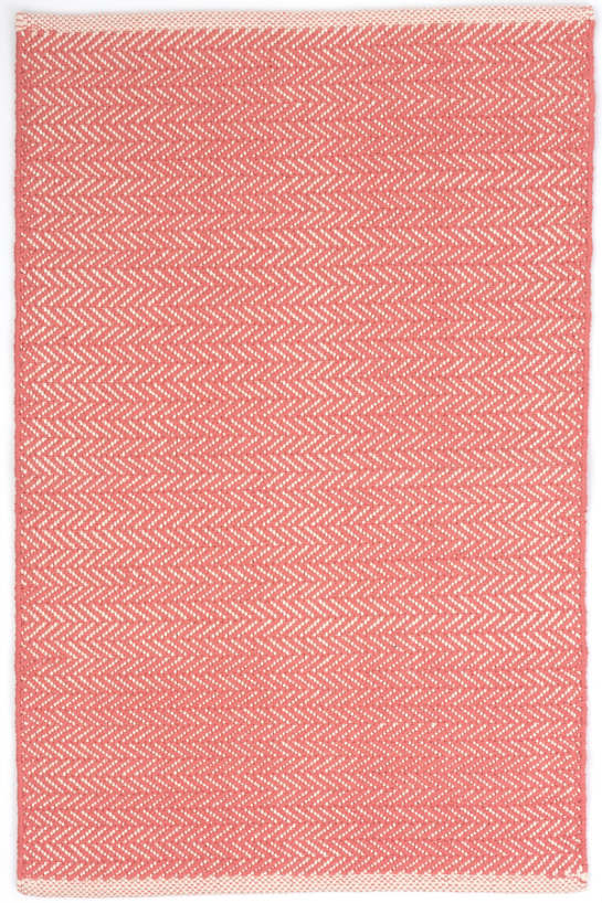 Herringbone Coral Woven Cotton Rug Dash Amp Albert