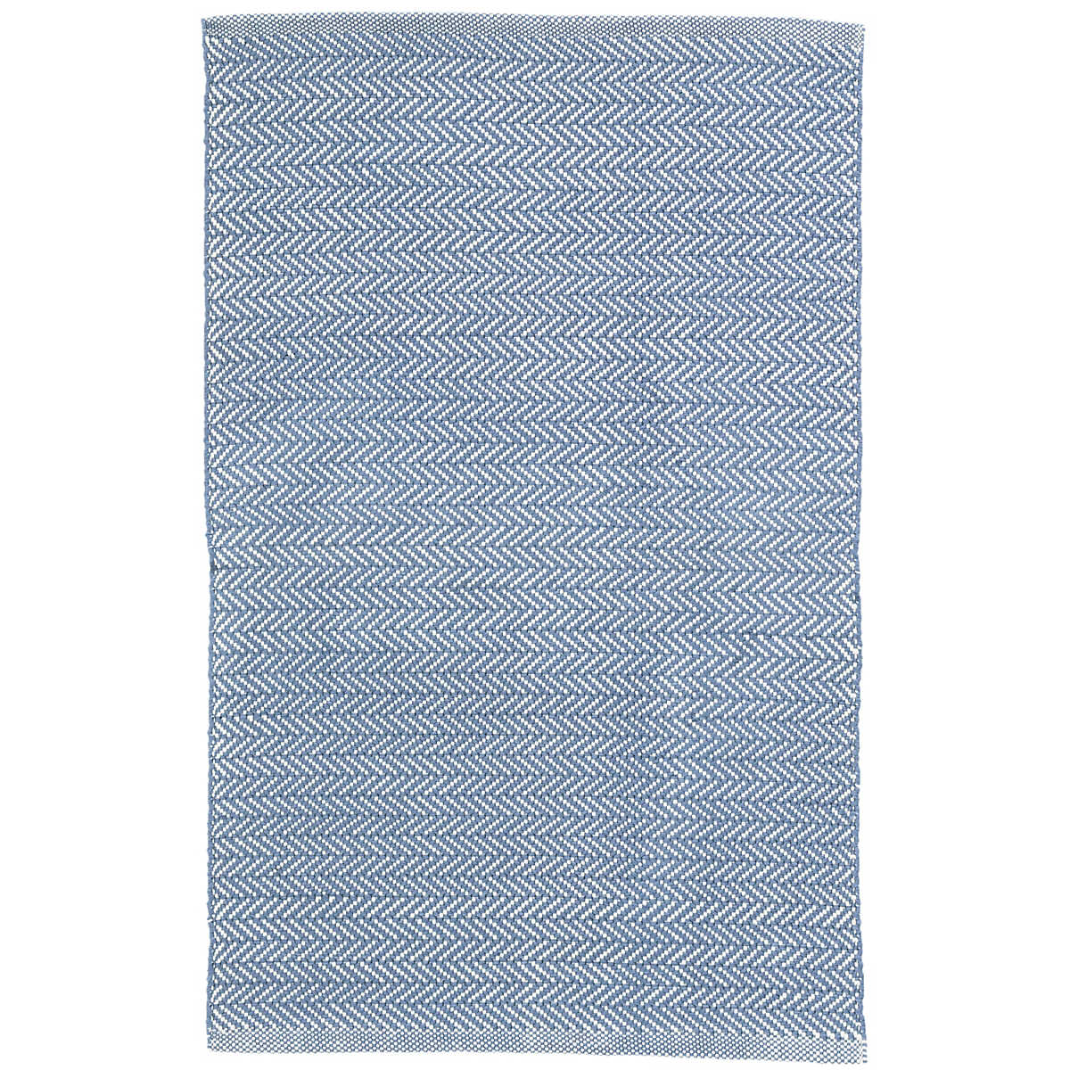 Herringbone Denim/Ivory Indoor/Outdoor Rug | Dash & Albert