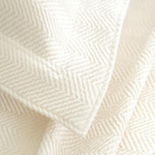 Herringbone Ivory Matelassé Coverlet