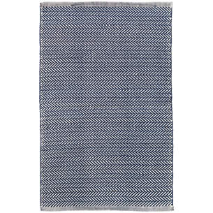 Superbe Herringbone Navy/Ivory Indoor/Outdoor Rug