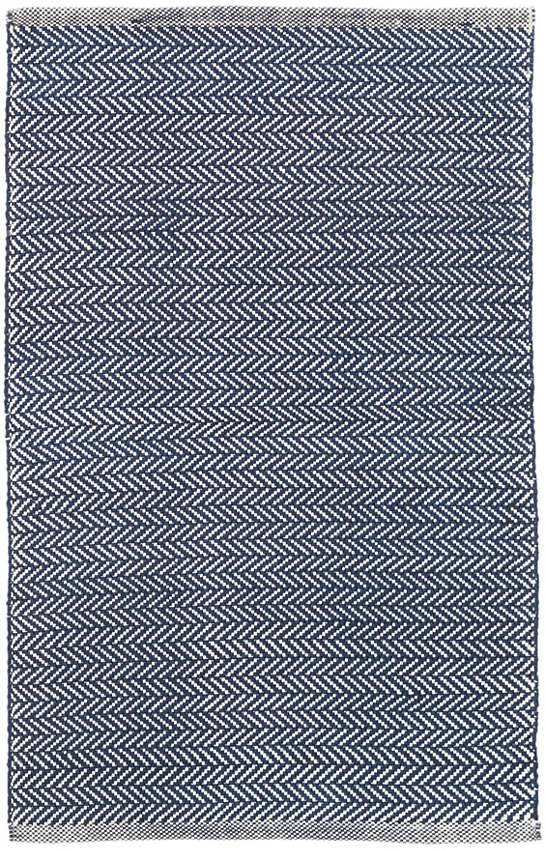 68cb8463dcdf Herringbone Navy/Ivory Indoor/Outdoor Rug | Dash & Albert