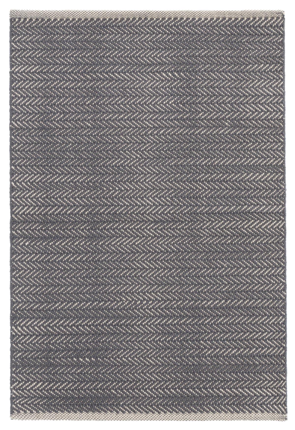 Herringbone Shale Woven Cotton Rug