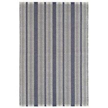 Herringbone Stripe Navy Woven Cotton Rug