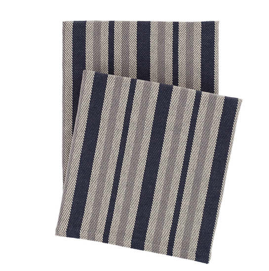 Herringbone Stripe Woven Cotton Throw