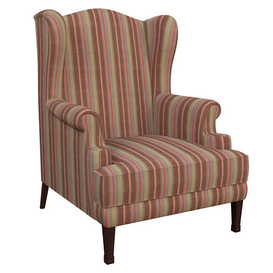 Highclere Stripe Lismore Chair