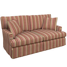 Highclere Stripe Saybrook 2 Seater Slipcovered Sofa