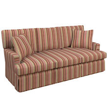 Highclere Stripe Saybrook 3 Seater Slipcovered Sofa