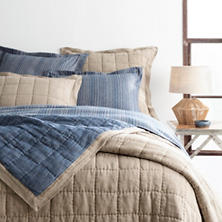 Holden Linen Natural/Denim Quilt