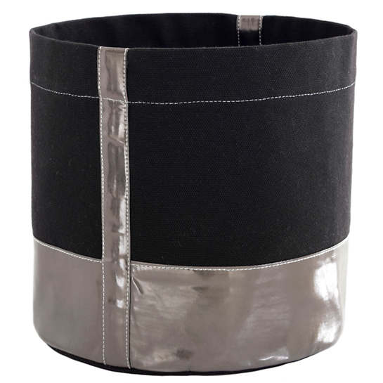 City Canvas Black/Pewter Bin