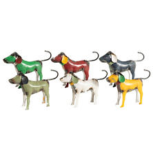Metal Dog Figurines/Set Of 6