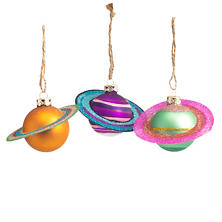 Cosmic Saturn Ornaments/Set Of 3