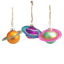 Cosmic Saturn Ornaments/Set Of 3