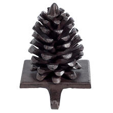 Brown Pinecone Stocking Holder