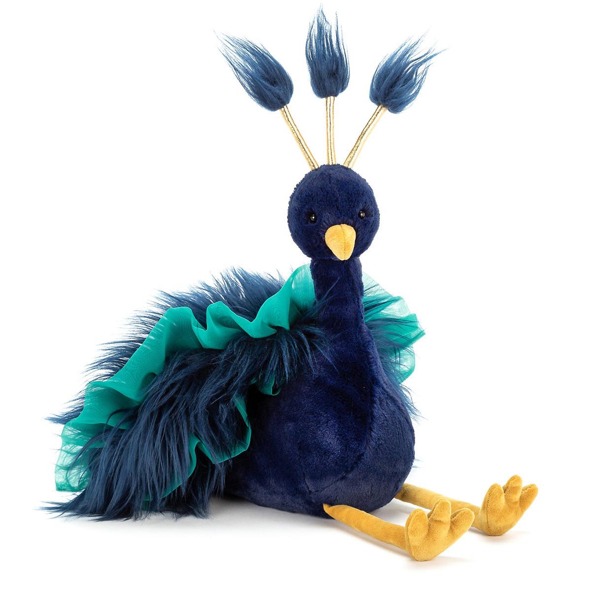 Electra Plume Peacock Stuffed Animal