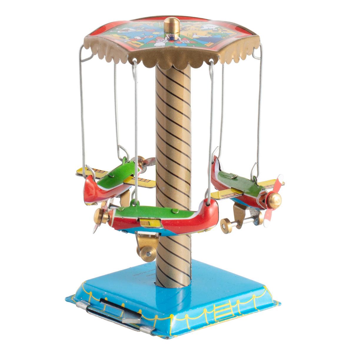 Airplane Carousel Collectible Tin Toy