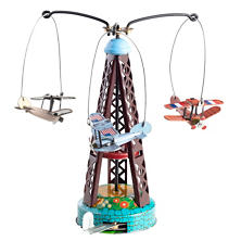Biplane Carousel Collectible Tin Toy